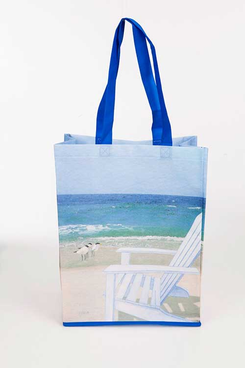 Beach Chair Recycled Tote Bags