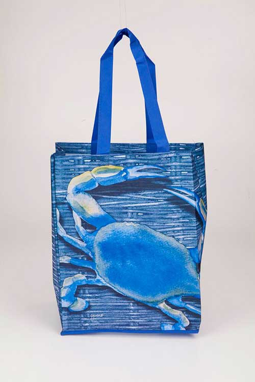 Blue Crab Recycled Tote Bags