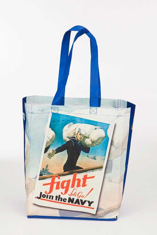 Navy Recycled Tote Bags
