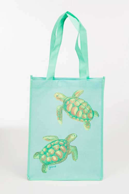 Turtles Recycled Tote Bags